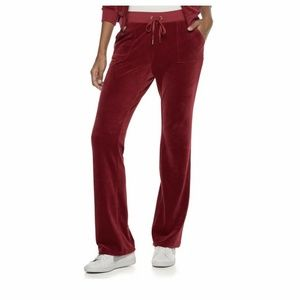 Juicy Couture Velour Midrise Bootcut Large New
